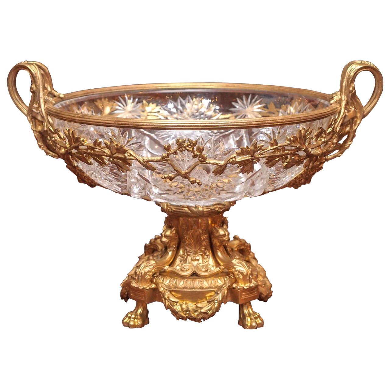 Antique Exquisite Baccarat Centerpiece Circa 1865 1875 At