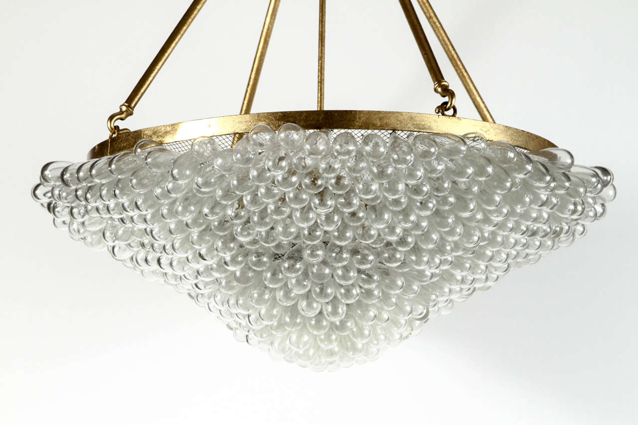 Large blown glass beaded chandelier at 1stdibs Blown glass chandelier