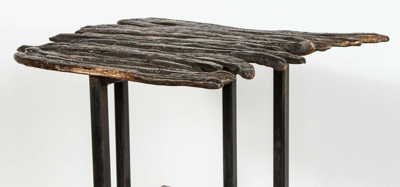 Organic Modern Paul Marra Cast Bronze Pod Table For Sale