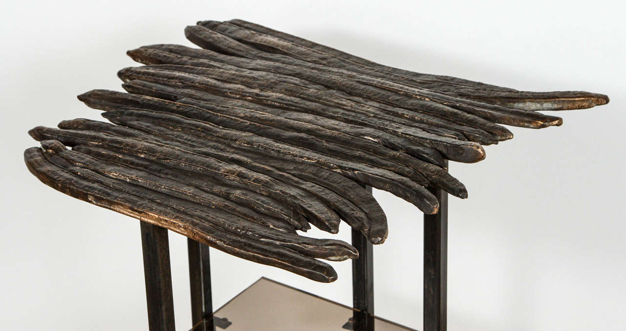 Paul Marra Cast Bronze Pod Table In Excellent Condition For Sale In Los Angeles, CA