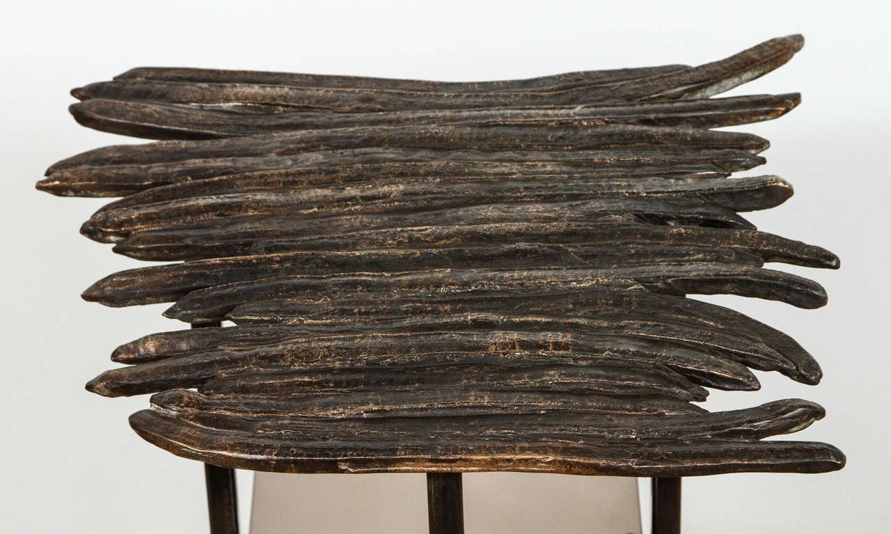 Brass Paul Marra Cast Bronze Pod Table For Sale