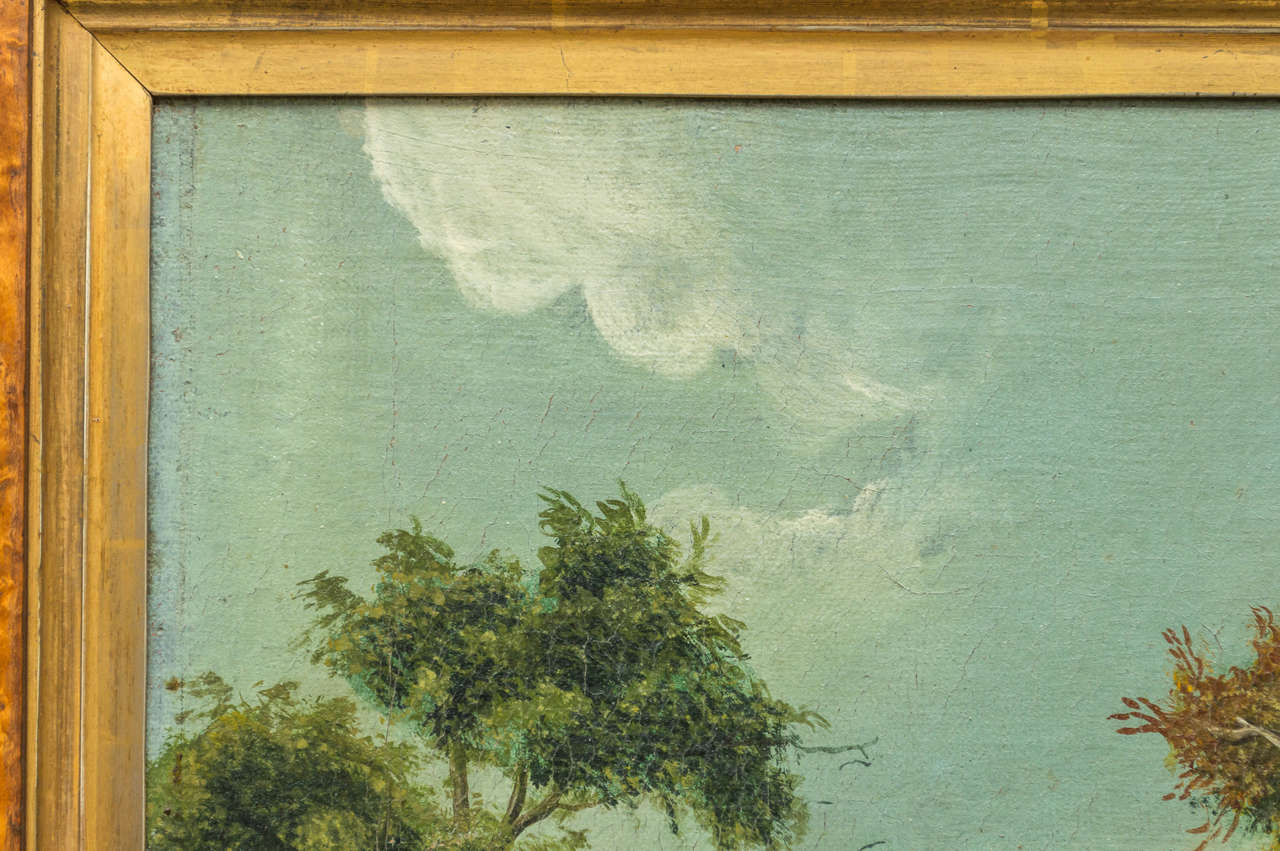 Early 19th Century English Naive Landscape Painting For Sale 2