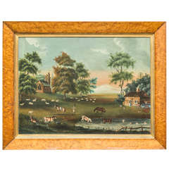 Early 19th Century English Naive Landscape Painting