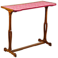 Napoleon Iii Sewing Table with Cut Velvet Top