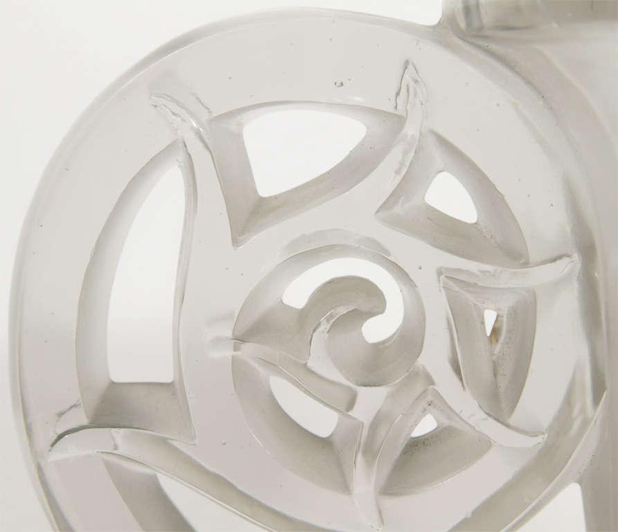 French Lalique Pierrefonds Vase For Sale