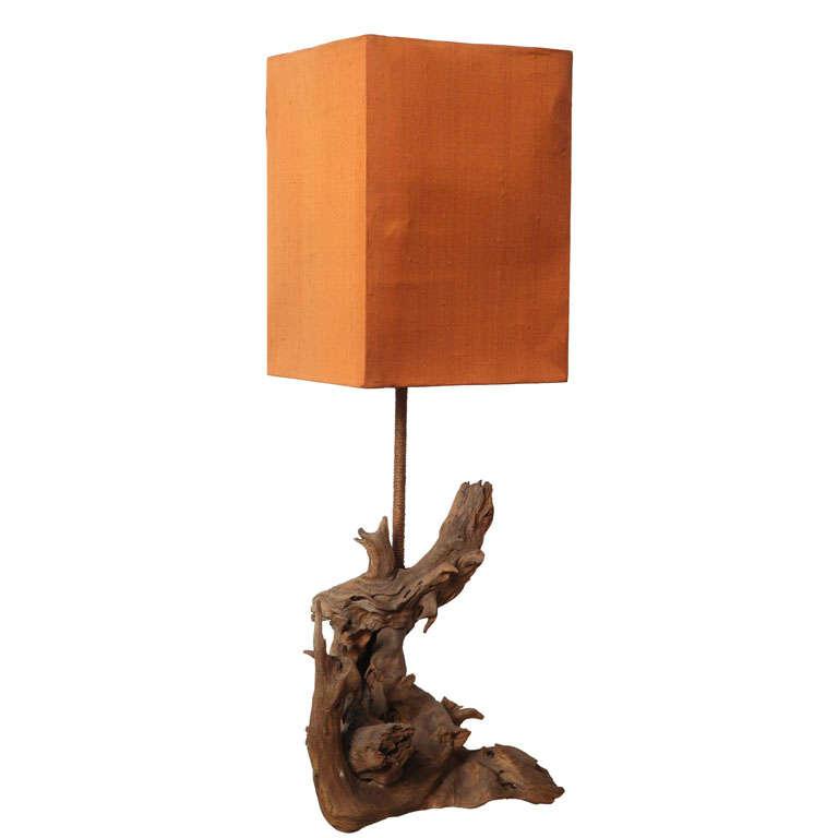driftwood table lamp at 1stdibs. Black Bedroom Furniture Sets. Home Design Ideas