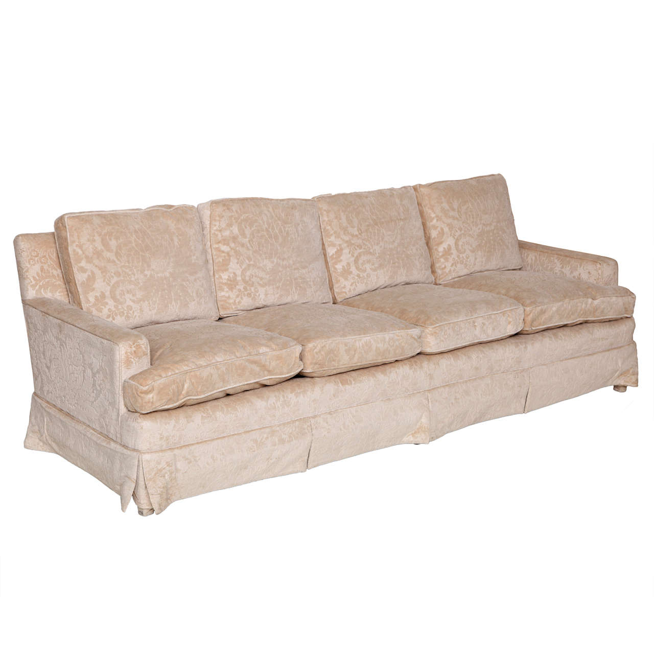 Furniture Johor Bahru Leather Sofa: Mid-Century Modern Four-Seat Sofa At 1stdibs