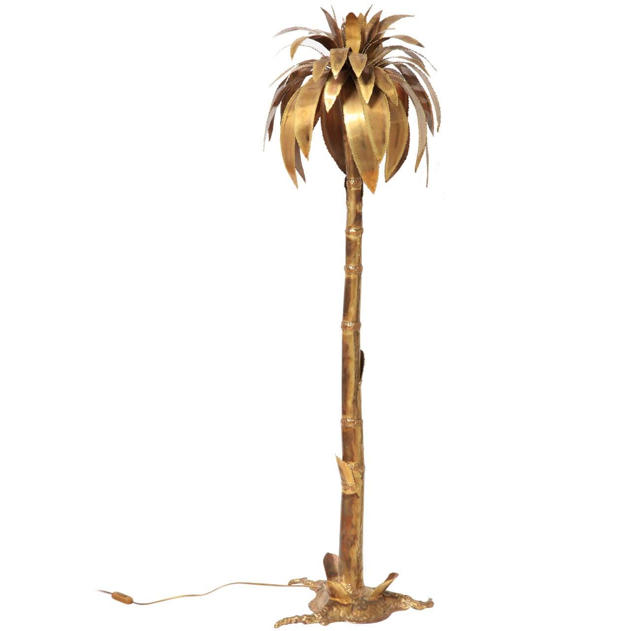1970s Palmtree Floorlamp Maison Jansen Style At 1stdibs