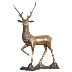 1970s Brass deer
