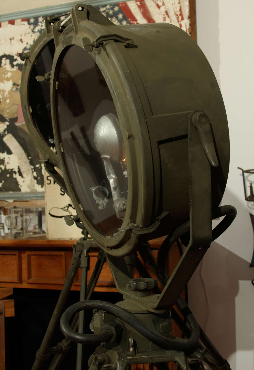 1943 Wwii Crouse Hinds Military Searchlights At 1stdibs