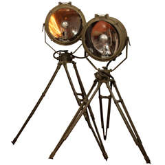 1943 WWII Crouse-Hinds Military Spotlights