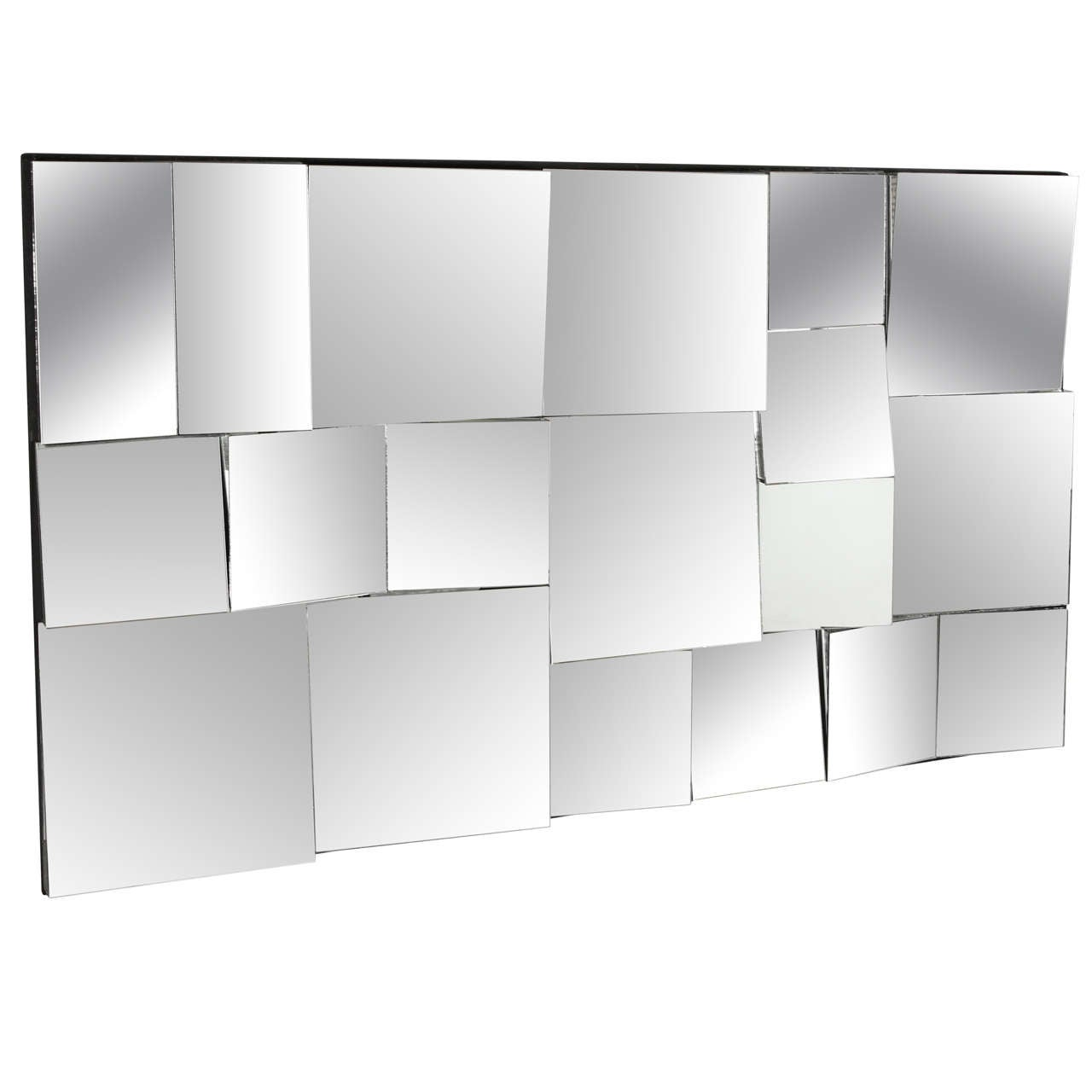 Neal Small Facetted Mirror At 1stdibs