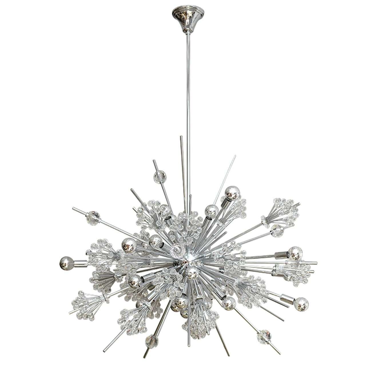 Swarovski crystal sputnik chandelier at 1stdibs for Sputnik chandelier