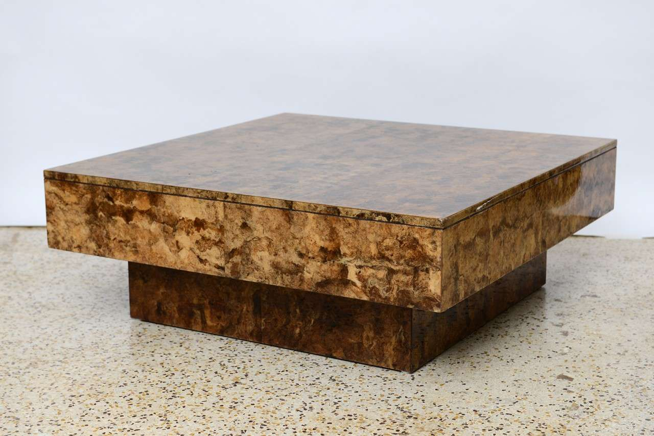 Textural Organic And Terribly Chic This 70 S Coffee Table Is Sheathed