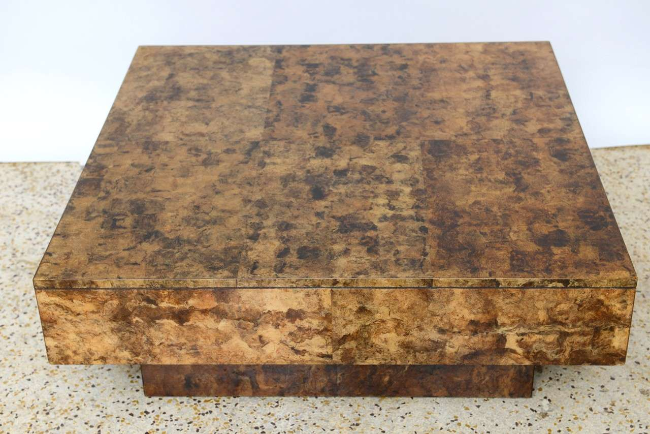 70 39 s tobacco leaf coffee table at 1stdibs for Coffee table 70 x 40