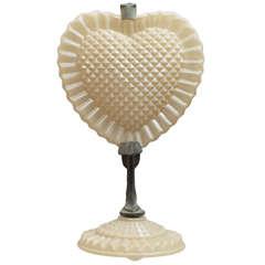 Unusual Art Deco Heart-Shaped Lamp