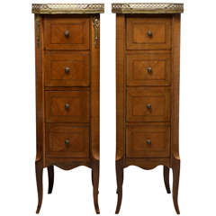 Pair of Mini Four Drawer Cabinets