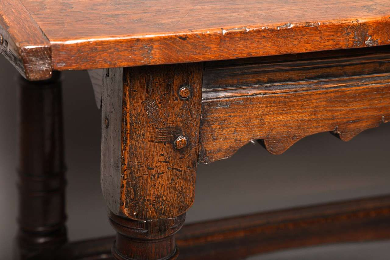 17th Century English Oak Refectory Table 4