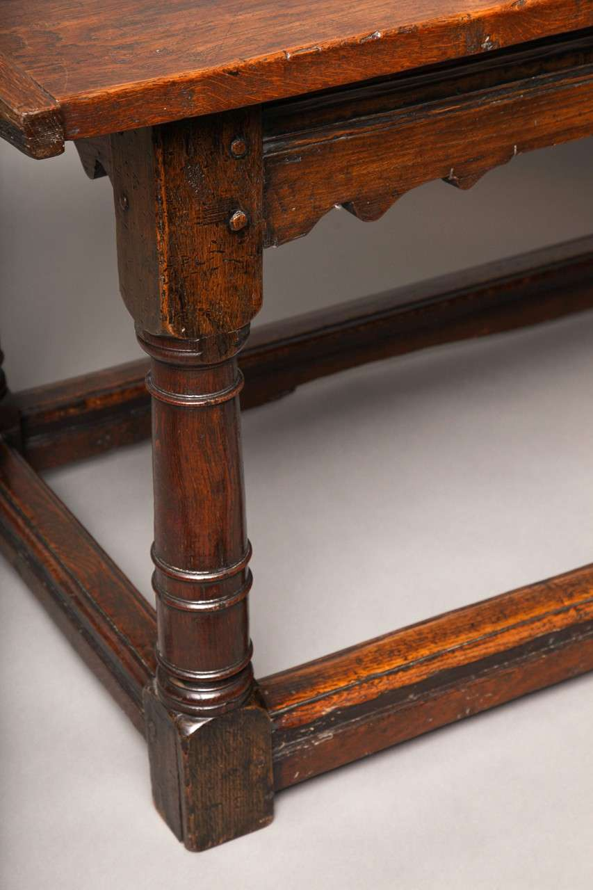 17th Century English Oak Refectory Table 7