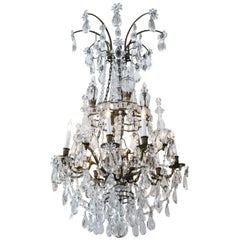 19th Century, Gilt Bronze and Crystal Chandelier