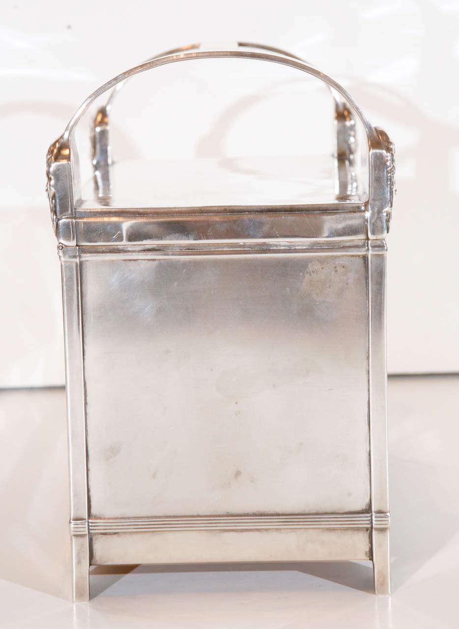 Silver Italian Art-Deco Humidor For Sale