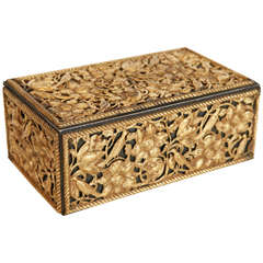 19th Century Gilt Bronze Humidor