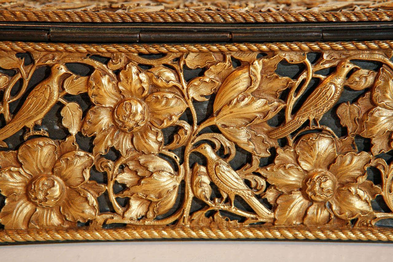 19th Century Gilt Bronze Humidor For Sale 3
