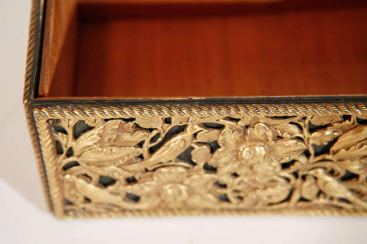 19th Century Gilt Bronze Humidor For Sale 4