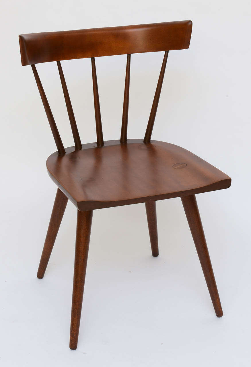 single paul mccobb spindle back chair in dark maple for sale at