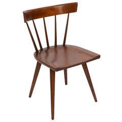 Single Paul McCobb Spindle Back Chair in Dark Maple