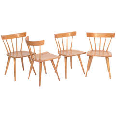 Four Paul McCobb Planner Group Dining Chairs Windsor Style