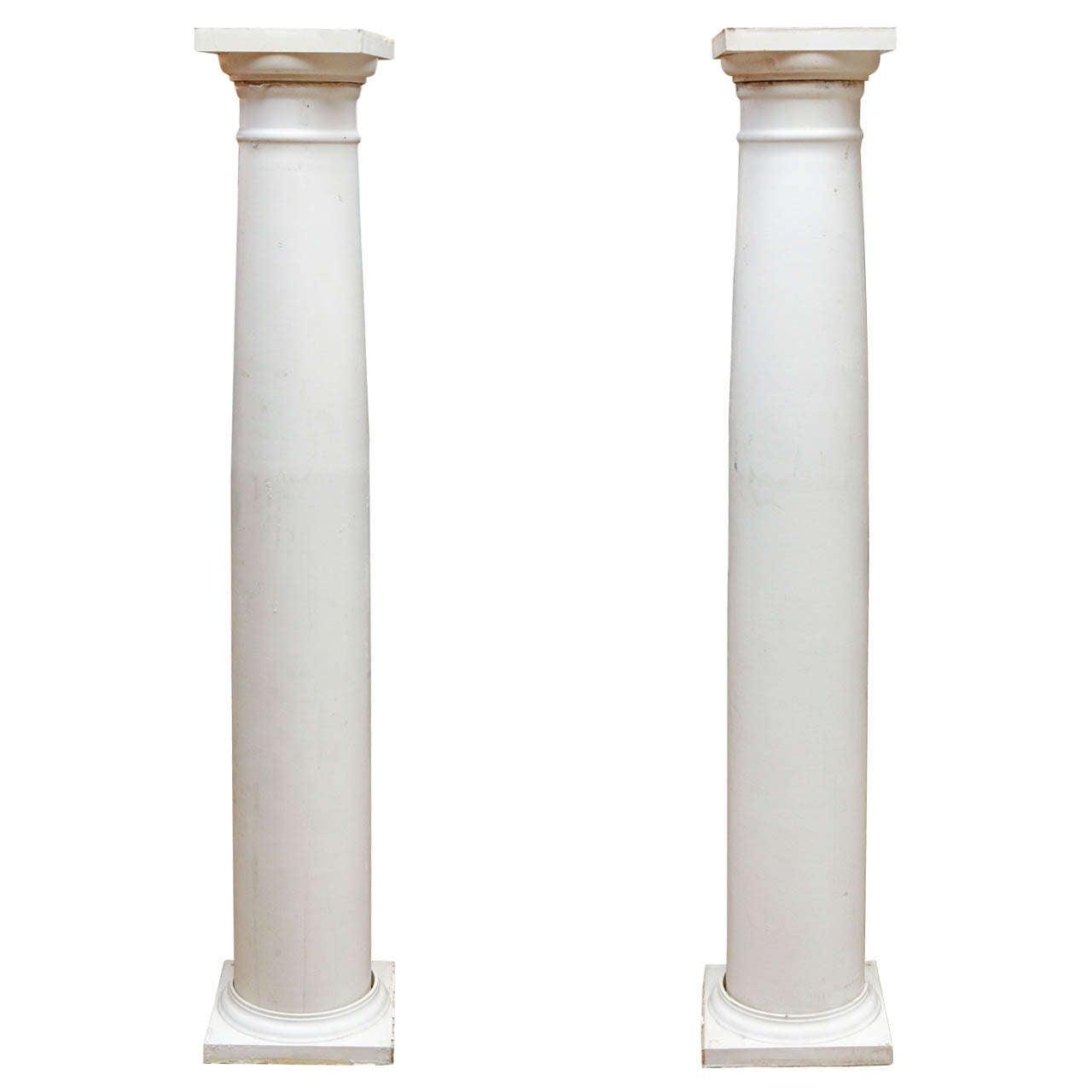 Set of six white doric columns at 1stdibs for Doric columns