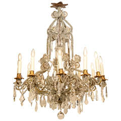 Spectacular Bead-Encrusted Twelve Light Chandelier