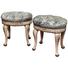 Pair of 19th Century Painted Venetian Stools