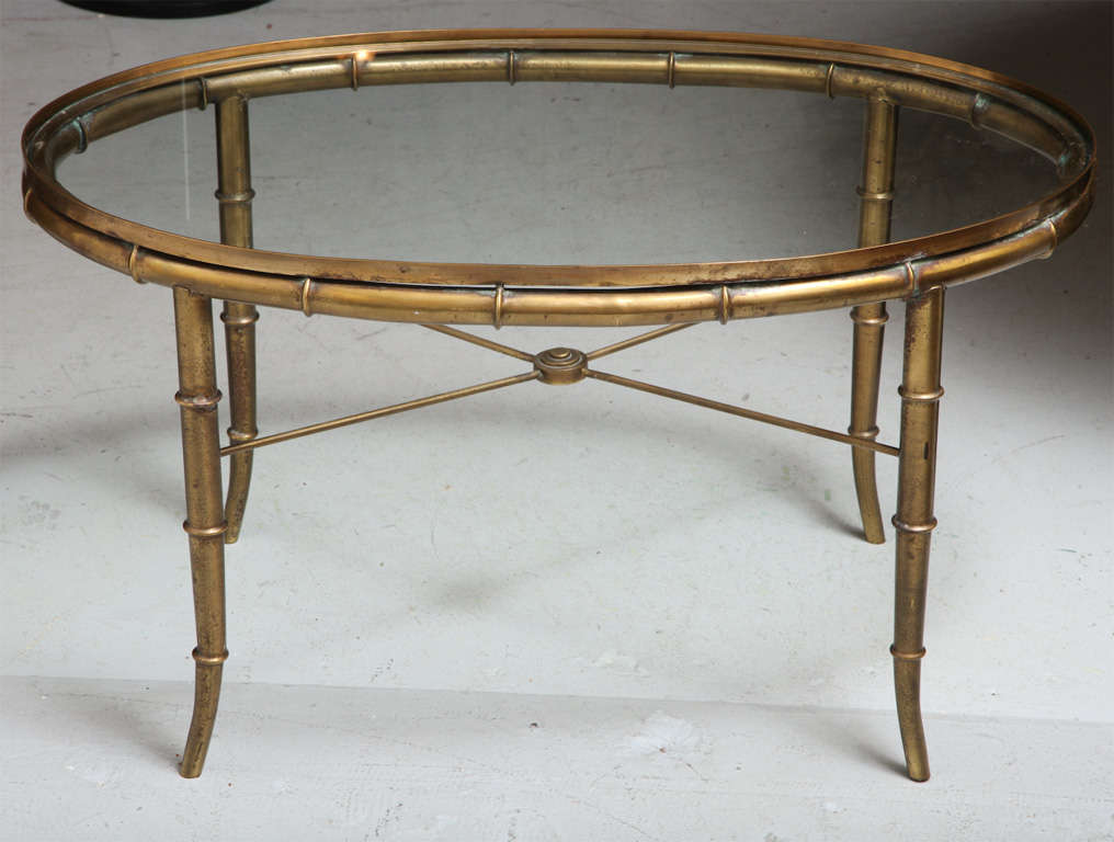 Mastercraft Faux Bamboo Coffee Table Image 2