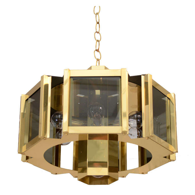 Elegant brass and smoked glass chandelier by frederick ramond at elegant brass and smoked glass chandelier by frederick ramond for sale mozeypictures Gallery