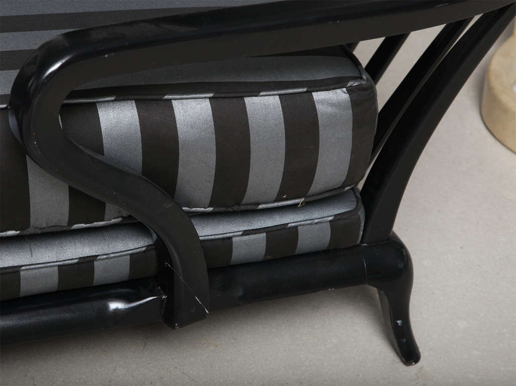 Black chaise longue at 1stdibs for Black chaise longue