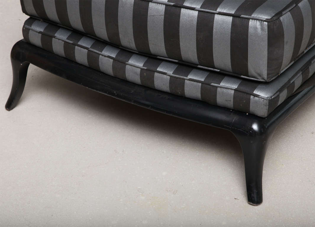 Black chaise longue at 1stdibs for Chaise longue black