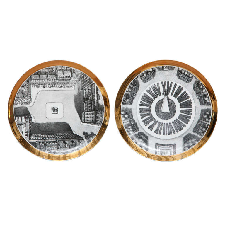 Pair of piero fornasetti plates for maison and jardin at 1stdibs - Maison jardin furniture nancy ...