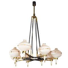 Stilnovo 1950\'s Eight Light Chandelier