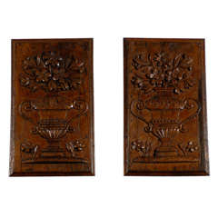 Pair of Louis XVI Period Carved Panels