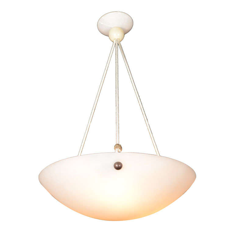 vintage italian alabaster light fixture with silk cord at. Black Bedroom Furniture Sets. Home Design Ideas