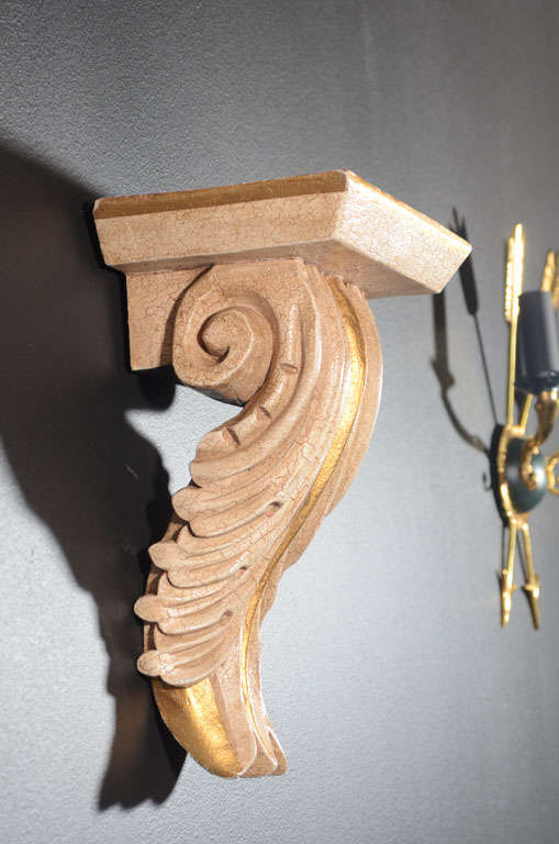 Pair of Architectural Baroque Style Corbels with Hand-Carved Design In Excellent Condition For Sale In Stamford, CT