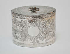 George III Sterling Silver Tea Caddy, 1777 image 4