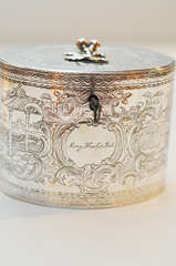 George III Sterling Silver Tea Caddy, 1777 image 7
