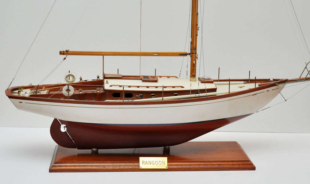 Scale model of sloop rangoon circa 1940 39 s at 1stdibs Scale model furniture