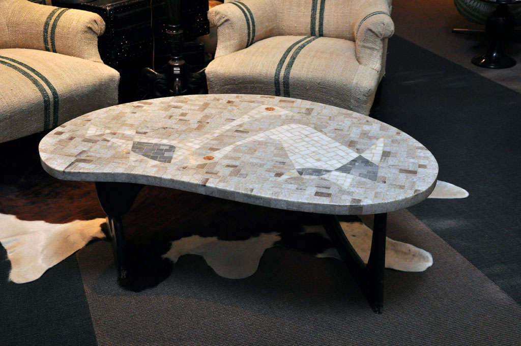 Mosaic Noguchi Style Coffee Table For Sale At 1stdibs