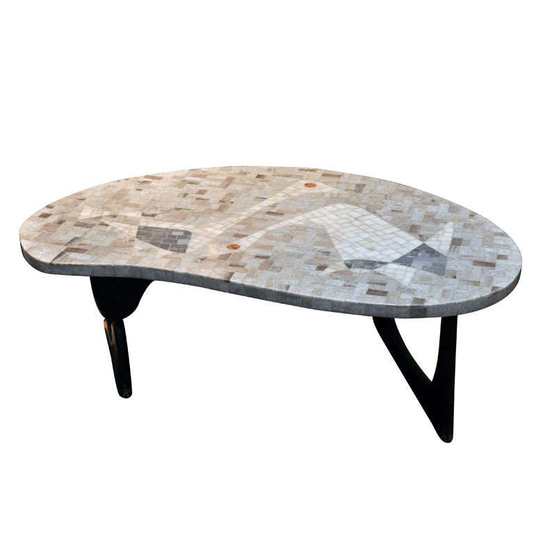 mosaic noguchi style coffee table for sale at 1stdibs. Black Bedroom Furniture Sets. Home Design Ideas