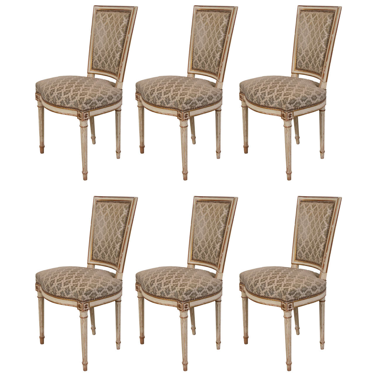 Set Of 6 Louis XVI Style Dining Chairs By Maison Jansen At 1stdibs