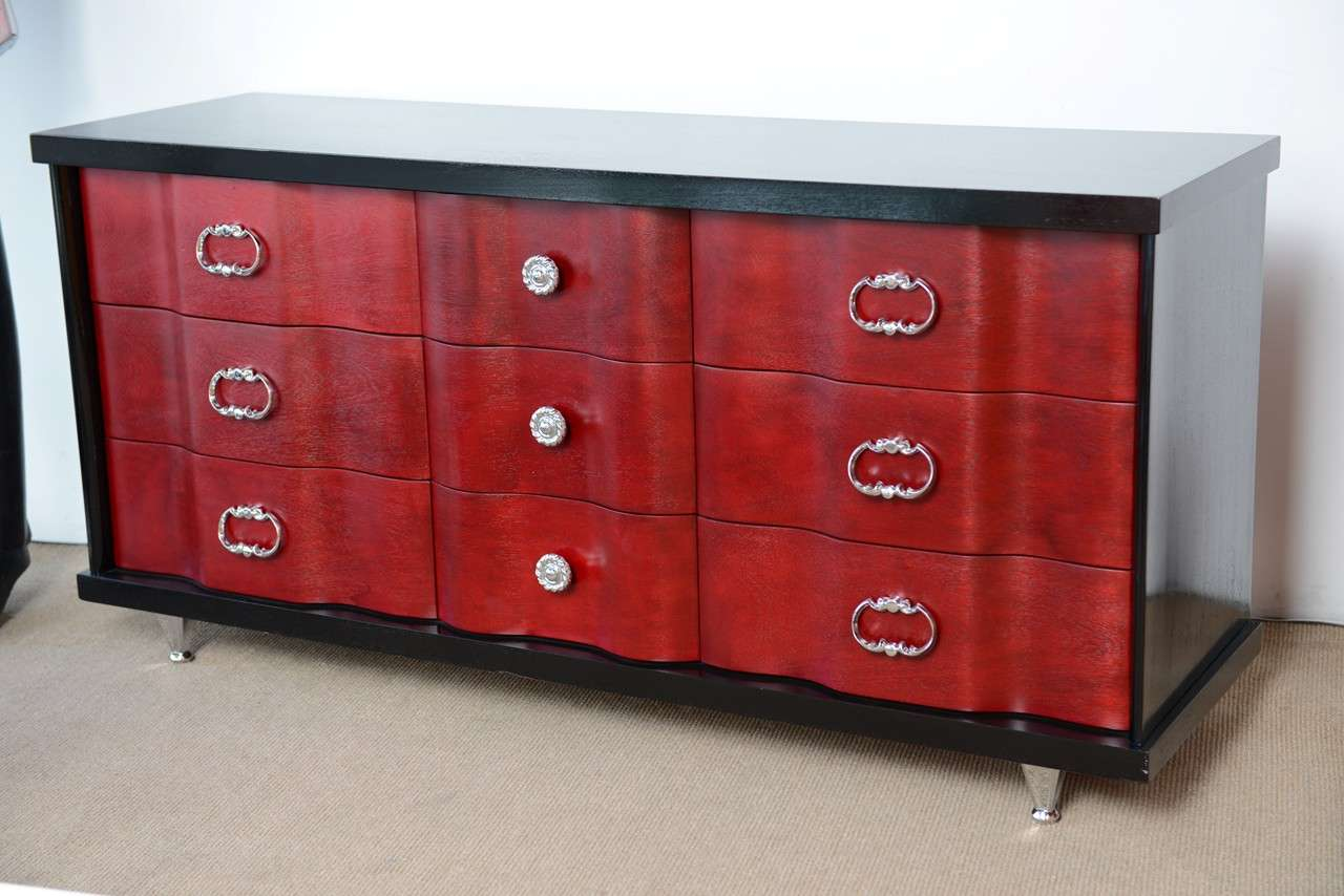 Mid Century Hollywood Regency Glamourous Dresser By Bassett Furniture For Sale At 1stdibs